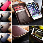 Genuine Leather Wallet Flip Case Cover for iPhone & Samsung For Apple on Rummage