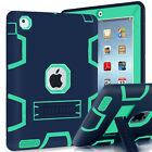 Defender Shockproof Silicone Case with Stand Rubber Case Cover For Apple iPad