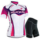 Women's Short Sleeve Cycling Clothing Set Bicycle Wear Suit Jersey Padded Pants