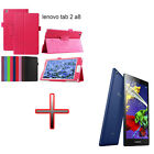"QW2 Holder Leather Pouch Case Cover + Film For 8"" Lenovo Tab2 A8-50F/LC Tablet"