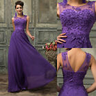 Long Prom Evening Party FORMAL Cocktail Wedding Bridesmaid Dress Size 6 8 10-14+