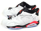 Nike Air Jordan 6 VI Retro Low White/Infrared 23-Black Basketball 304401-123 AJ6