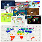 For Mac MacBook Air/Pro 13/15 Retina Hard Case World Map +Silicon Keyboard Cover