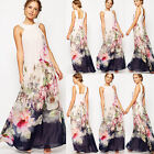 Elegant Women's Long Maxi Boho Formal Evening Party Sexy Floral Bohemian Dress