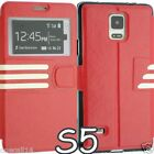 FOR SAMSUNG GALAXY S5 I9600 PU LEATHER WALLET STYLE FLIP POUCH COVER CASE SV