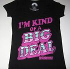 """New Anchorman """"I'm kind of a big deal"""" juniors womans shirt sizes Large X-Large"""