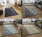 Hong Kong Octagon & Rectangle Rug 100% Hand Tufted Acrylic Large Geometric Mat