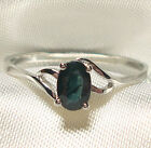 Genuine Green Blue Sapphire .925 Sterling Silver Ring -- SP524