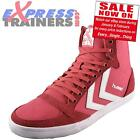 Hummel Womens Girls Slimmer Stadil High Classic Retro Trainers Pink *AUTHENTIC*