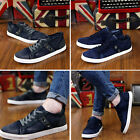 Mens Denim Breathable Sneakers Casual Canvas Driving Lace-up Shoes LA US A1