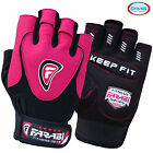 Farabi Weight Lifting Gloves Pink Womens Gym fitness workout Gel straps Ladies