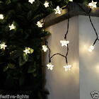 50 LED SOLAR POWERED STAR FAIRY STRING OUTDOOR GARDEN LIGHTS WITH TIMER 5M