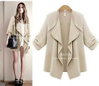2016 NWT Women oversize Big Coat  Trench Cardigan Outerwear Jacket plus size