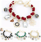 New Chic Gem multielement anchor wind rotor pendants weave rope charm bracelet