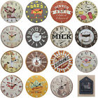 Shabby Chic Large 34cm Thin Rustic Wall Clock Food Sweets Cafe Diner