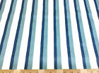 ( Swatch sample) Quilting Cotton Shades of Blue Striped 025CT