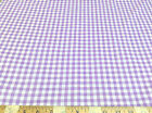Discount Fabric Top Weight Cotton Shirting Apparel Gingham Purple 024CT
