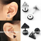 2x Stainless Steel Swirl Triangle Barbell Ear Cartilage Helix Bar Earring Earlet