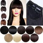 gorgeous natural  Front Neat Fringe Bangs Clip In Hair Extension Black Brown Red