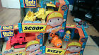 BOB THE BUILDER PUSH ALONG VEHICLES - MUCK, DIZZY & SCOOP - NEW AND BOXED