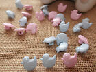 10 X LITTLE DUCK BUTTONS/BABY/KNITTING/SEWING - SIZE 22 (14MM) PINK OR BLUE