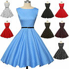 Vintage Womens Retro Style 50s 40s Swing Pinup Rockabilly Floral/Polka Dot Dress