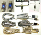 1.5M High Quality Breaded With Alloy Connector Led Cable For Iphone 5 5S 6 6Plus
