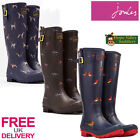 Joules Wellyprint Ladies Wellies (T) **BNWT** **FREE UK Shipping**