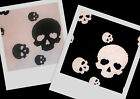 AWESOME! Black White Skull Stretch Knit Quality Fabric BTY ~ 2 colors