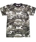 AWOL A WAY OF LIFE LONDON DRUM & BASS DNB BLACK AND WHITE CAMOUFLAGE T-SHIRT TOP