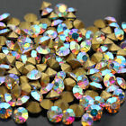ss2-ss22 Clear ab faceted Czech Crystal Rhinestones Pointed Back jewels diy pick