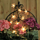 50 OR 100 LED SOLAR CHERRY BLOSSOM FAIRY STRING OUTDOOR GARDEN LIGHTS 5M 10M