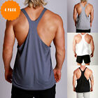 New Mens RACERBACK Gym bodybuilding Singlets Y back Muscle Tank ZYZZ 4 Pack