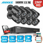 SANNCE 1500TVL Security Camera System 8CH 1080N Outdoor CCTV DVR Surveillance 1T