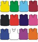 10 FOOTBALL MESH TRAINING SPORTS BIBS Kids/Youth and Adult Sizes