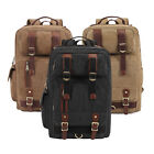 Men's Military Outdoor Canvas Backpack Rucksack Laptop Sport Hiking Camping Bag