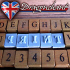 42pcs Alphabet Rubber Stamps Wooden Box Set Vintage style Wood Letters Number UK