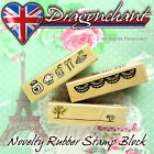 Novelty Wooden Rubber Stamp Block Scrapbook Craft Deco Wedding Party Card Making
