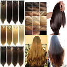 Full head thick hair clip in hair extension 8 pieces long new real hairpiece 5A1