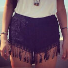 Leisure Lady Lace Hollow Out High Waist Short Vintage Summer Casual Shorts FMUS