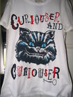 DISNEY STORE CHESHIRE CAT CURIOUSER T SHIRT ALICE SIZE 12 14 16 BRAND NEW