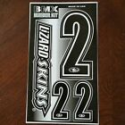 "Lizard Skins BMX Numberplate Number sheet 1- 4"" and 2- 2"" numbers USA Made #"