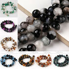 Natural Agate Gemstone Faceted Round Loose Beads Craft Findings DIY 12mm 14mm