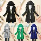 Women Girl Knitted Hoodie Sweater Long Sleeve Knitwear Cardigan Coat Outwear Top