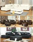 Sectional Sofa Sectional Couch in Bonded Leather Sectionals Sofa Couch W Ottoman