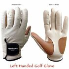 WOMENS MENS GOLF GLOVES LEFT MENS HAND SIZE SMALL MEDIUM LARGE GENUINE LEATHER