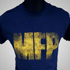Mad Max MFP Navy Blue Retro Movie T Shirt V8 Main Force Patrol