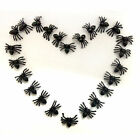 20 50 100 Black Plastic Halloween Spiders Horrible Loot Toys Decoration Party