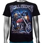Skeleton Hell Rider Custom Motorbike Cruiser Chopper Biker Men's T-Shirt M & L