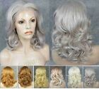 """Hot!16"""" long BoB wavy blonde brown white grey ombre synthetic wig wigs for women"""